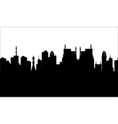 Silhouette of city heritage vector image