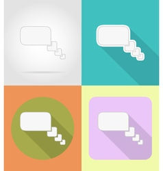 speech bubbles flat icons 02 vector image