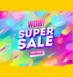 Super sale promotion design vector