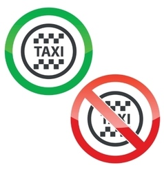 Taxi permission signs vector image