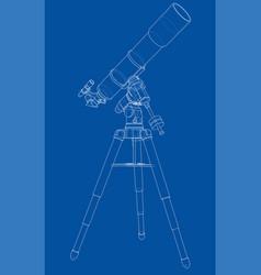 Telescope concept outline vector