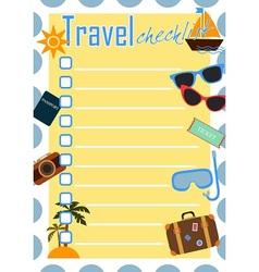 Travel checklist or planner vector
