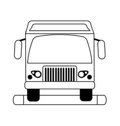 Truck silhouette vector
