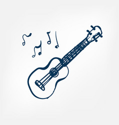 ukulele sketch isolated design vector image