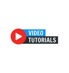 Video tutorial icon webinar training vector
