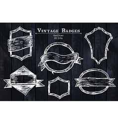 Vintage sketched badges vector