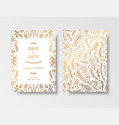 wedding vintage invitationsave date card vector image