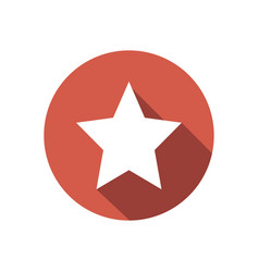 White star on red circle isolated clean fl vector