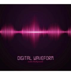 digital waveform vector image