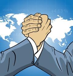 economic world competition vector image