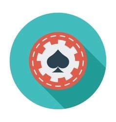 Gambling chips flat icon vector image vector image