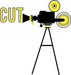 Movie Camera - Cut vector image vector image
