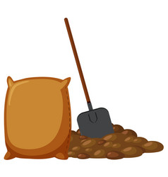 spade and pile of dirt vector image