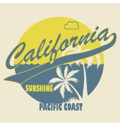 California Typographic t-shirt fashion design - vector image vector image