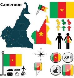 Cameroon map small vector image vector image