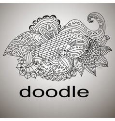 doodle black coloring mandala pattern vector image vector image