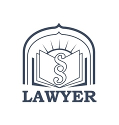 Lawyer or advocate isolated icon or emblem vector
