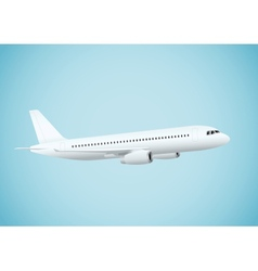 Plane in blue background vector image vector image
