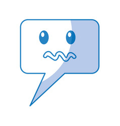 speech bubble angry comic character vector image vector image