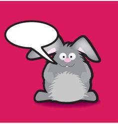 speech rabbit vector image vector image