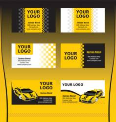 taxi service business cards vector image