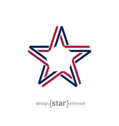 USA star from ribbon vector image vector image