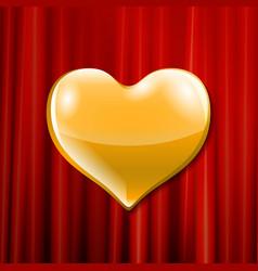 golden heart celebration vector image