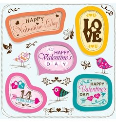 Template Valentine greeting card vector image vector image