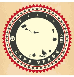 Vintage label-sticker cards of Cape Verde vector image vector image