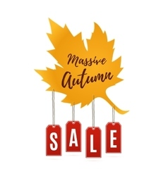 Autumn sale abstract banner vector image