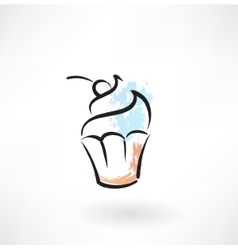 cake grunge icon vector image vector image