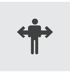 Direction icon vector image vector image