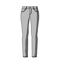 green skinny pants for women women s clothes for vector image