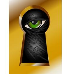 Keyhole and eye vector