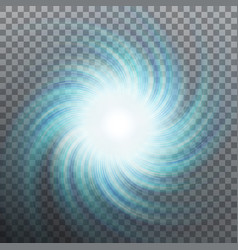 spiraling blue vortex isolated eps 10 vector image