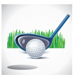 vector golf club with ball vector image