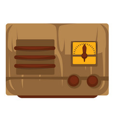 1930s radio isolated object vintage device retro vector
