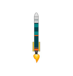 a simple spaceship isolated vector image