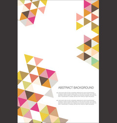 abstract geometric design background template 2 vector image