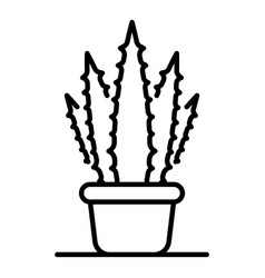 aloe home pot icon outline style vector image