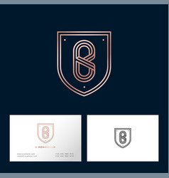 B letter monogram web business card vector