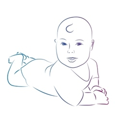 Baby sketch vector image