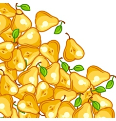 Background design with stylized fresh ripe pears vector