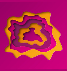 background from cut 3d paper layers vector image