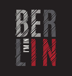 Berlin tee print t-shirt design graphics stamp vector