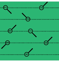 Binary code digits and lens green pattern eps10 vector
