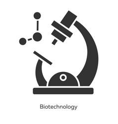 biotechnology glyph icons set biotech molecular vector image