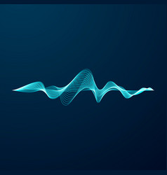 blue sonic wave line abstract blue digital vector image