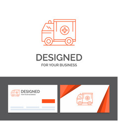 business logo template for ambulance truck vector image