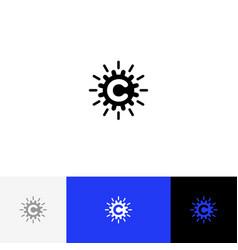 C with abstract circle minimalism logo c vector